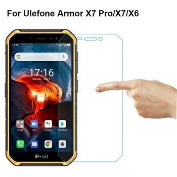 Перейти на Алиэкспресс и купить 3-1 шт стеклянный чехол для Ulefone Armor X7 Pro, Защитное стекло для экрана 9D, закаленное стекло на Ulefone Armor X7 X6, Защитная пленка для телефона