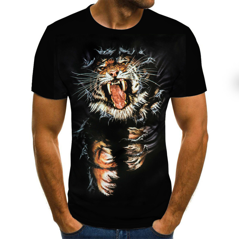 2020 Men's T-Shirts 3D Printed Animal Tshirt Short Sleeve Funny Design Casual Tops Tees Male T Shirt Shirt XXS-6XL
