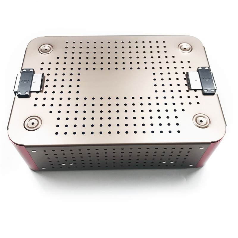 Aluminium Alloy Sterilization Tray Case Dental Disinfection Box Opthalmic Surgical Instrument