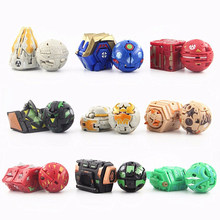 Hot Deformation Animal Action Toy Figures Diameter 3.5cm Capsule Random Send No Repeat Free Cards for Gift Dragon Dinosaur Toys(China)