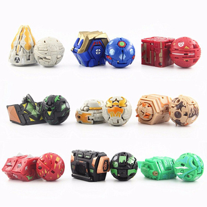 Image 1 - Hot Deformation Animal Action Toy Figures Diameter 3.5cm Capsule Random Send No Repeat Free Cards for Gift Dragon Dinosaur Toys