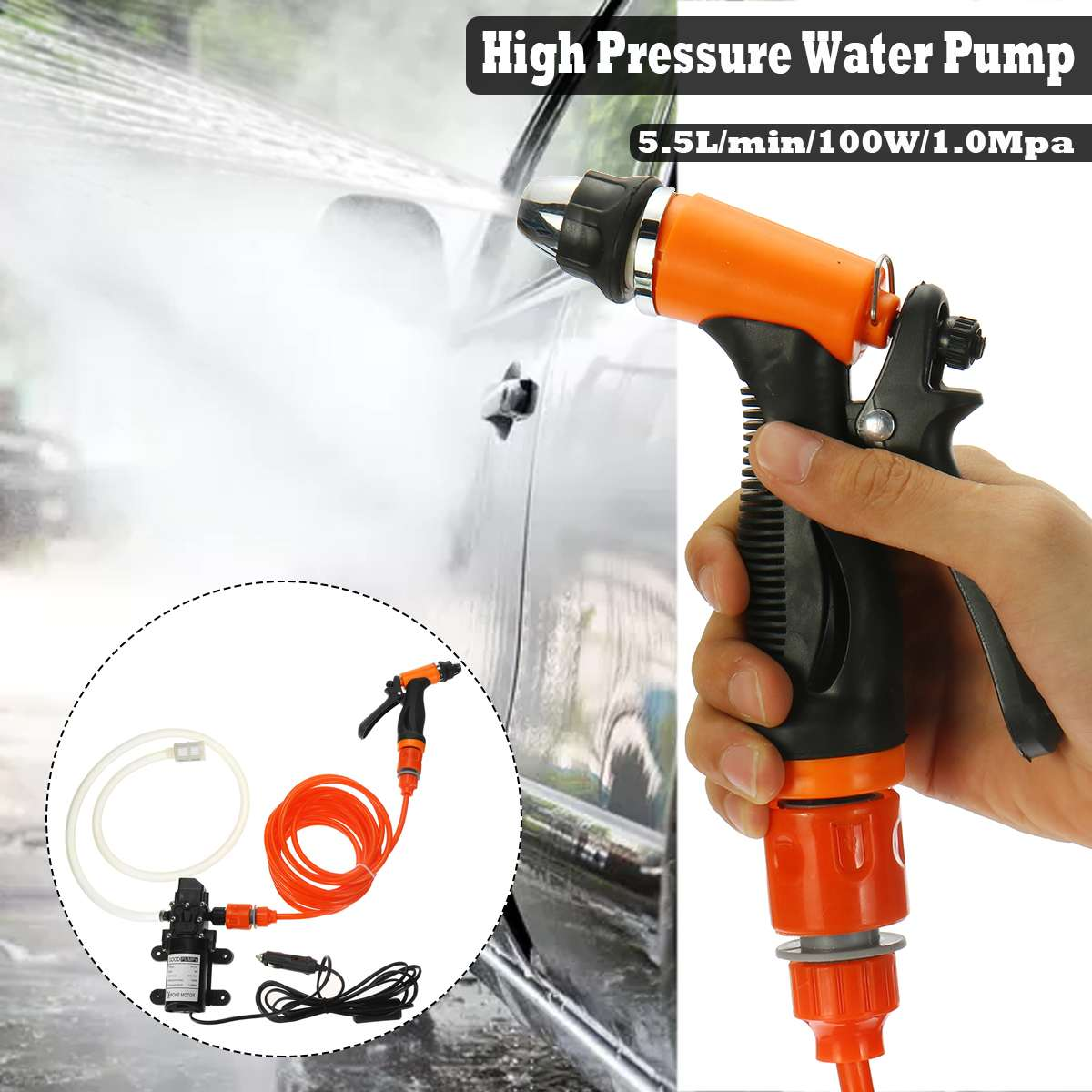 DC 12V Electric Water Pump High Pressure Diaphragm Self Priming Water Pump Sprayer Car Wash 12 V