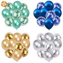 10 шт. 12 дюймов металлические цвета латексные шары воздушные шары с конфетти надувной шар для дня рождения, свадьбы, вечеринки