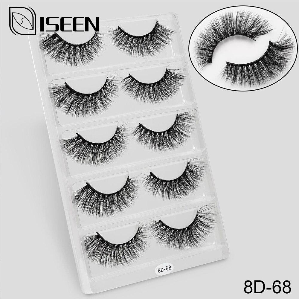 Image 2 - 5 Pairs 3D Mink Eyelashes False Eyelashes Natural Long /Thick 3D Eyelashes Crisscross Full Strip Handmade Lashes Makeup-in False Eyelashes from Beauty & Health