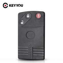 KEYYOU dla Mazda 5 6 CX 7 CX 9 RX8 Miata MX5 wymiana 2/3/4 przyciski kart inteligentnych obudowa pilota z kluczykiem samochodowym Case Uncut wkładki ostrze