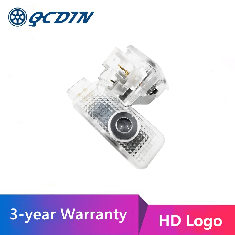 QCDIN 2pcs for AUDI E Tron OEM Car LED Logo Door Light Projector Lamp for All AUDI Car ModelDecorative Lamp   -