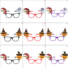 1PC Kawaii pumpkin Kids Creative Party Decoration Festival Supplies glasses frame bat Halloween(China)