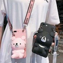 Cute Cartoon 3D Care Bear Wallet Phone Case For iph