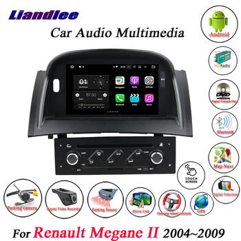 Car Android GPS Navigation Multimedia System For Renault Megane II 2004~2006 2007 2008 2009 Radio Stereo DVD Player HD Screen image