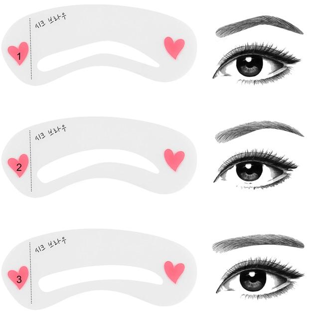 3PCS/Set Eyebrow Mold Makeup Cosmetic Tools Thrush Card Artifact Aid Accessories 2