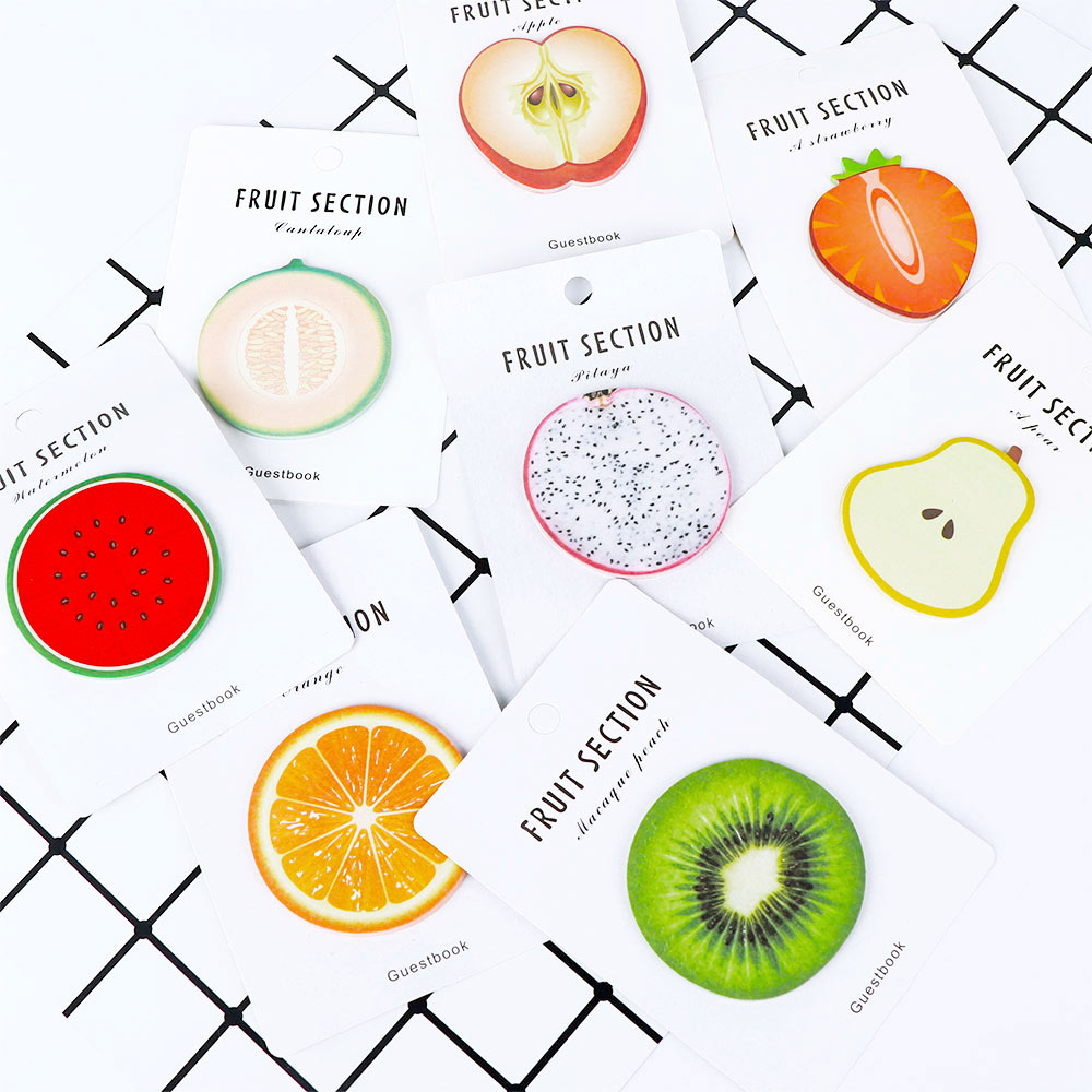 Cute 30 Sheets Fresh Fruit Memo Pad Sticky Notes Memo Notepad Bookmark Paper Sticker Kids Students School Office Supply