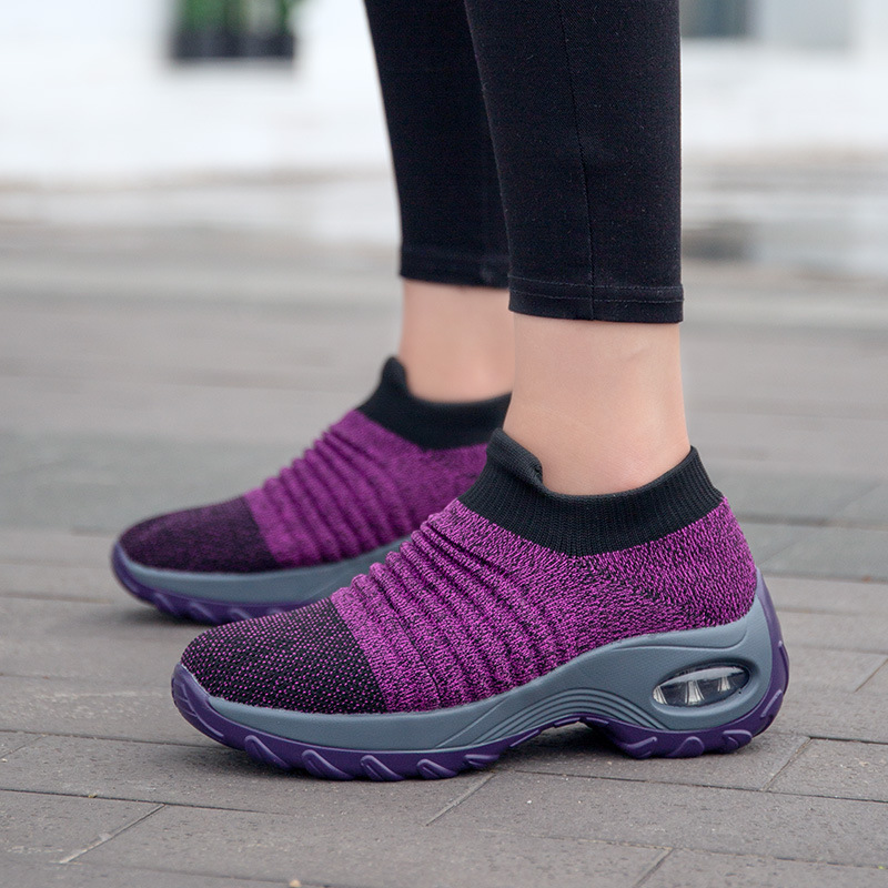 Wedge Sneakers Women Shoes 2020 New Slip-on Casual Shoes Woman Adult Tenis Feminino Breathable Mesh Women Sneakers Ladies Shoes