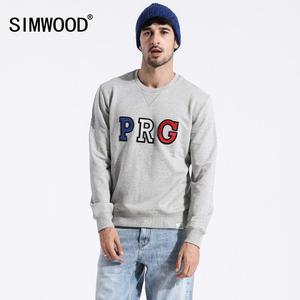 Image 5 - SIMWOOD 2020 printemps nouveau streetwear sweats à capuche mode hip hop sweat shirts amples hommes grande taille broderie o cou pull 180318
