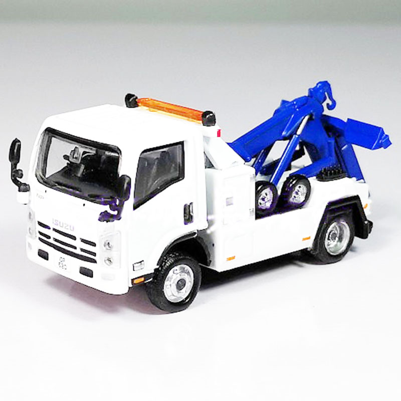 1/76 Scale TINY Simulation Construction Site Isuzu Trailer Alloy Die-casting Model Toy Mini Version Children Gift Collection
