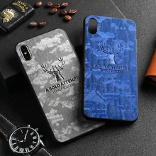 Rugged TPU Case For iPhone 11 Pro Max Case iphone X XS XR 6 6s Plus 7 Plus 8 Plus iphone11 11pro Cloth Back Cover Elk Deer Shell new iphone case for iphone 11 for iphone11 pro max 5 8 inches 6 1 inches 6 8 inches 6 6s 7 8 plus ix xr max x fashion back cover
