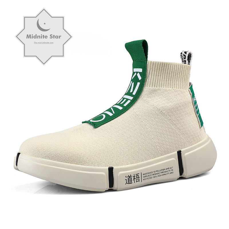 Mode haut chaussures décontractées hommes respirant appartements décontracté sans lacet plate-forme chaussures hommes chaussette marche chaussures homme zapatos 2019
