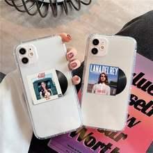 Lana Del Rey transparente de la caja Del teléfono para iPhone 11 12 mini pro XS MAX 8 7 6 6S Plus X 5S SE 2020 XR
