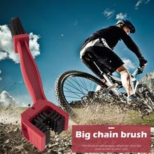 Rowerowy środek do czyszczenia łańcuchów motocyklowych szczotka do szorowania czerwony rower przenośna rowerowa łańcuch Freewheel Scrubber pyłoszczelne części rowerowe tanie tanio NONE CN (pochodzenie)