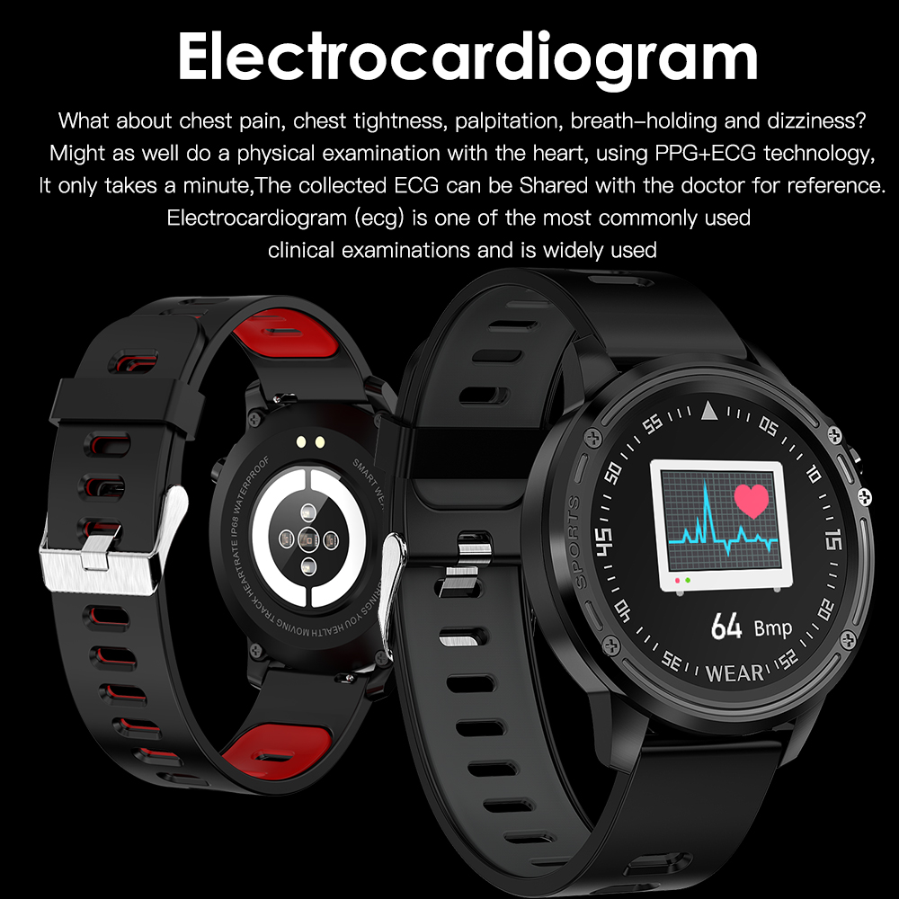 Hb4d6b175a1aa47399c409b588e8b78192 L8 Smart Watch Men Fitness Tracker Heart Rate Blood Pressure Monitoring Smart Bracelet Ip68 Waterproof Sports Smartwatch