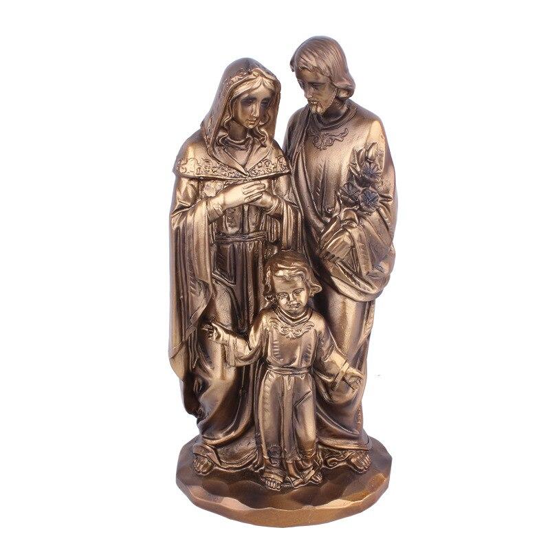 Mini Jesus Statue Legierung Dekoration Figur für Gläubige 2.75 /'/' Bronze