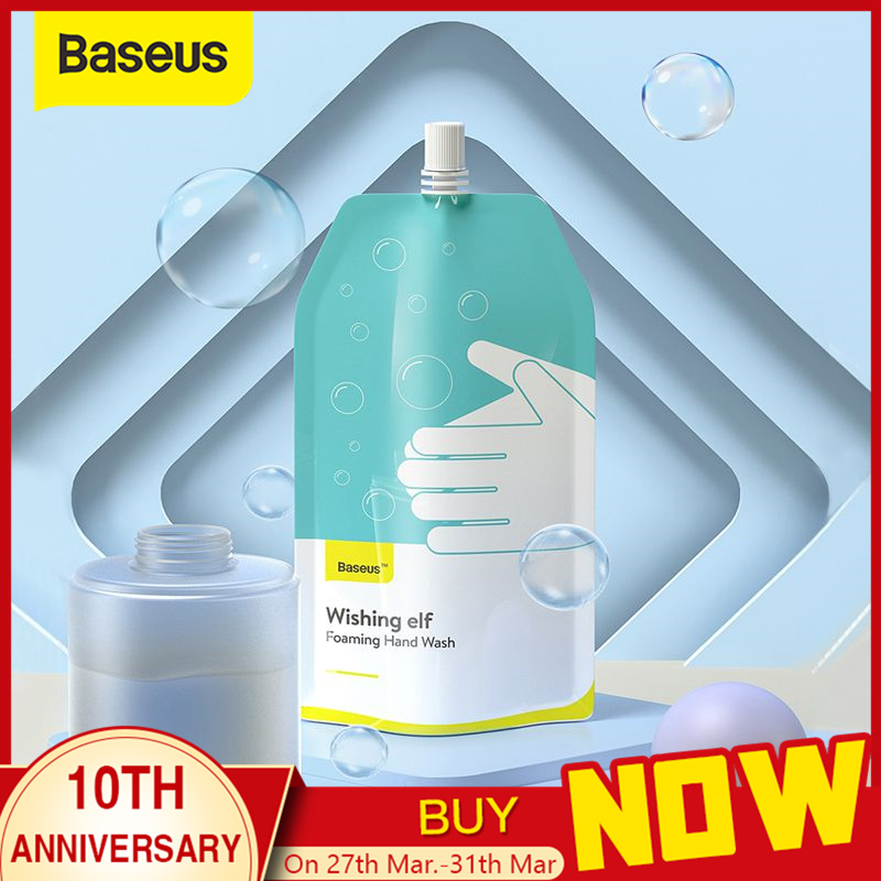 Baseus 300ml Foaming Hand Sanitizer For Infrared Foaming Hand Washer Induction Sensor Soap Dispenser For Bathroom Kitchen(2 Bag)