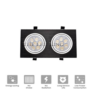 Image 1 - Dimmable LED Downlights 18W30W AC85 265V Square silver Black LED Ceiling Lamp Down Light for Kitchen Home Office Indoor Lighting