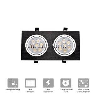 Image 1 - ניתן לעמעום LED Downlights 18W30W AC85 265V כיכר כסף שחור LED תקרת דאון מנורה מטבח בית משרד מקורה תאורה