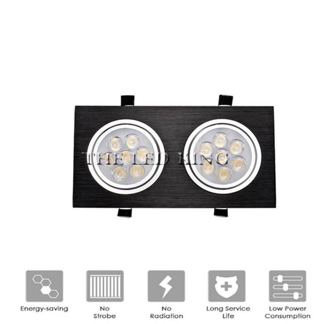 ניתן לעמעום LED Downlights 18W30W AC85 265V כיכר כסף שחור LED תקרת דאון מנורה מטבח בית משרד מקורה תאורה