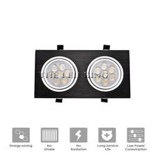 調光対応 led ダウン 18W30W AC85 265V スクエアシルバーブラックは、天井灯ダウンライトキッチンホームオフィス屋内照明
