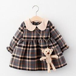 Bebê recém-nascido meninas vestido primavera roupas de manga longa casaco de bebê vestidos para o bebê infantil roupas de aniversário da criança menina vestir vestido