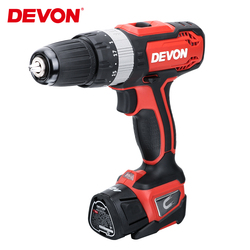 DEVON 12V Electric Screwdriver Rechargeable Cordless Drill Lithium-ion Impact Drill Household Wireless Power Driver Tool 2-speed
