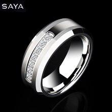 2021 мужские вольфрамовые кольца для свадьбы с блестящими семью