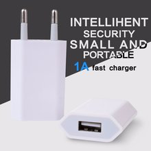 White 5V 1A EU Plug USB Wall Charger Adapter Mobile Phone Charging Tools For iPhone 12 pro max For XiaoMi For HuaWei For One plu