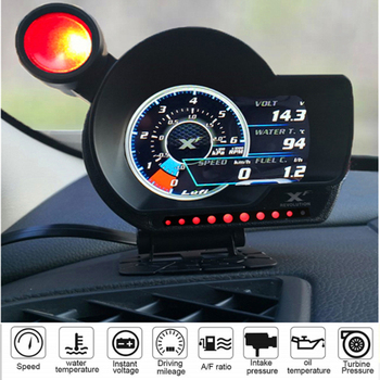 Original LUFI XF OBD2 car digital turbo boost oil pressure temperature gauge for car Afr RPM Fuel level Speed EXT Oil Meter image
