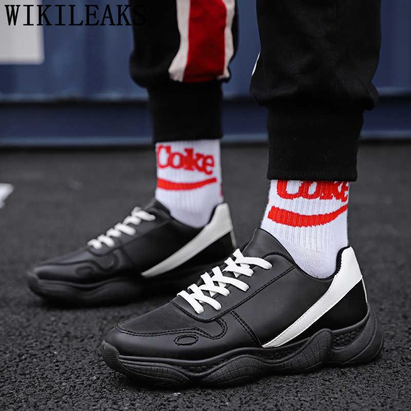 Zapatos de cuero hombre zapatillas Zapatillas zapatos hombre negro de diseñador hombres zapatos de hombre zapatilla hombre sepatu kulit pria trampki