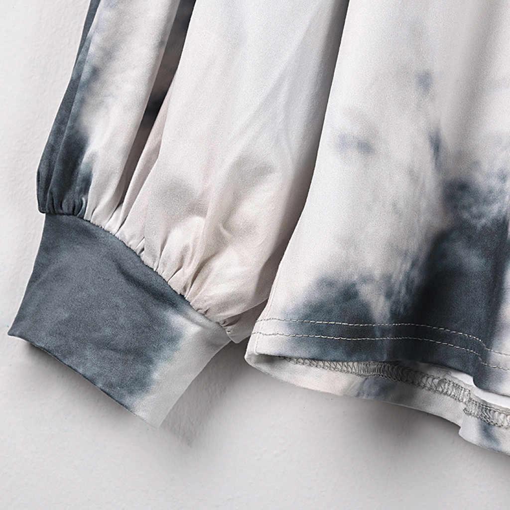 هوديس المرأة موضة مقنعين طباعة بلوزة بلايز قميص قطني بكم طويل حجم كبير البلوز الإناث عارضة الدافئة مقنعين البلوز