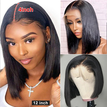 Wig Human-Hair-Wigs Blonde Brown Lace-Front Preplucked Straight Black-Women Brazilian