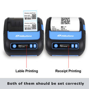 Portable Printer Label-Maker POS Android-Ios Bluetooth Mobile Mini 58mm Receipt 2-In-1