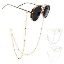 Fashion Womens Gold Silver Eyeglass Chains Sunglasses Lanyard Strap Necklace Metal Glasses Chain Eyewears Cord Holder Neck Rope