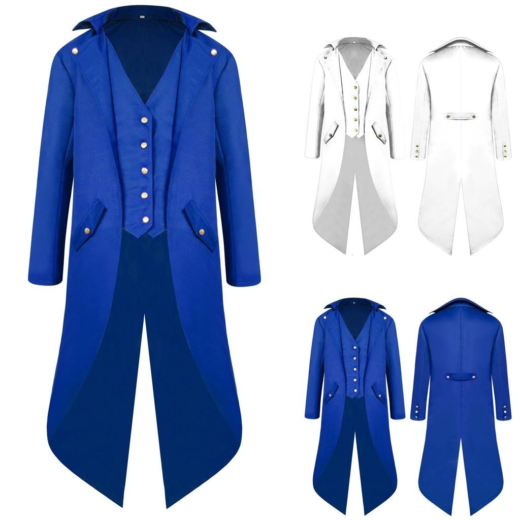 Hb4d7cba116cc4c64b15774b104f2bc90r vintage Medieval Robe Cosplay Costume vintage men's trench Men's Coat Tailcoat Jacket Gothic Frock Coat Uniform Praty Outwear#g3