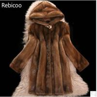 Faux Mink Fur Coat Women Winter New Fake Fur Coats For Women Long Artificial Fur Imitation Fur Jackets Plus Size 6Xl