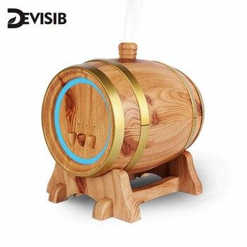 Divisib 350 мл арома-диффузор эфирного масла с древесным зерном ультразвуковой увлажнитель с прохладным туманом 7 цветов светодиодный светильни...