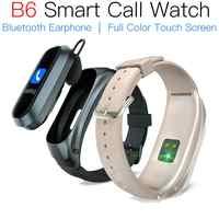 Jakcom B6 Smart Anruf Uhr Heißer verkauf in smart uhren wie android für mi band 4 strap fitness tracker Kopfhörer sport Uhr