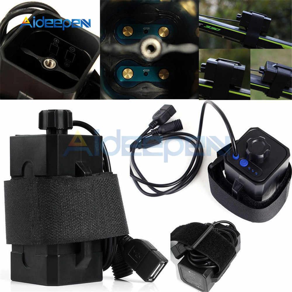 4x18650 רכיבה על בטיחות עמיד למים סוללה מטען תיבת LED מחוון ליתיום סוללה מקרה עבור BicycleTail אור פנס