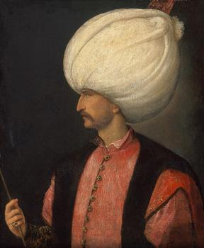 HOME OFFICE wall Decorative art # The Portrait of Sultan of the Ottoman Empire Suleiman I PRINT painting on canvas image