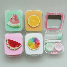 Imixlot Cute Cartoon Watermelon Orange Pattern Contact Lens