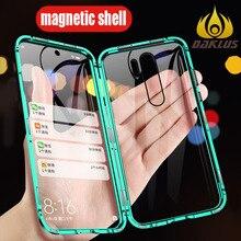 Capa luxuosa de vidro temperado, para redmi note 8, capa dupla face para redmi note 7 note 7 pro note 8 capa para celular pro à prova de choque