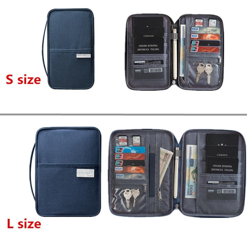 Large Travel Accessory Passport Cover Holder Women Men Multi-function Credit ID Card Bag Organizer Document Storage Money Wallet