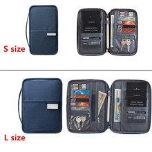 Wallet Travel-Accessory Passport-Cover Organizer Holder Document-Storage Credit Id-Card-Bag