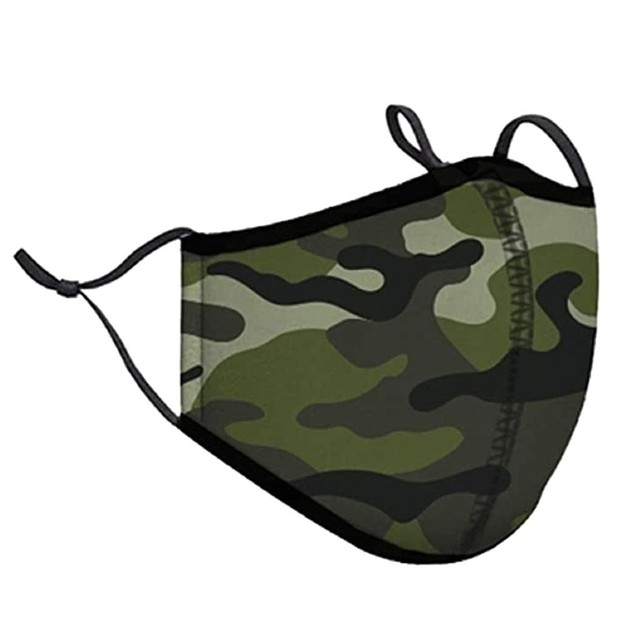 Pm2.5 Women Fashion Camouflage Cloth Half Face Mask Washable Reusable Protective Dustproof anti pollution Flu Mouth Mask Unisex 1
